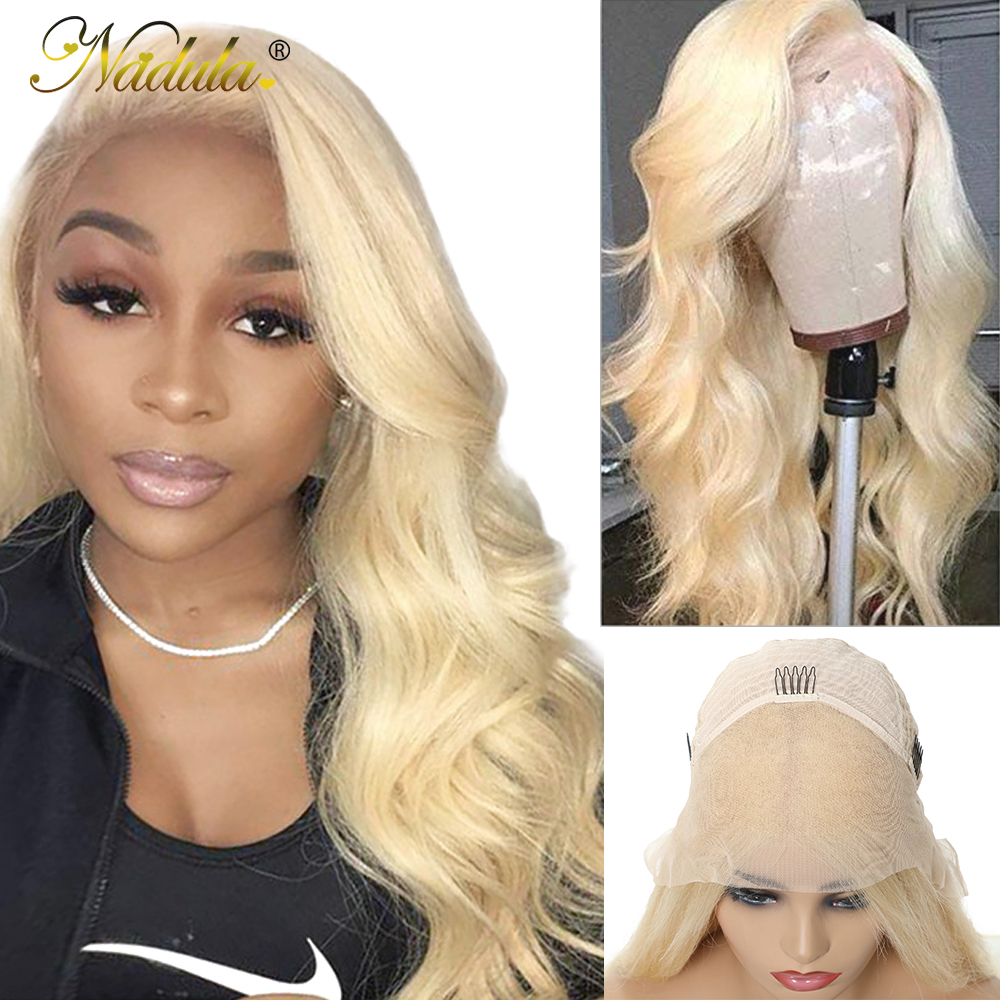 Nadula Hair 13x4/6 Honey Blonde Lace Front Wig 150% Density Brazilian Body Wave Lace Wig 613 Lace Front Human Hair Wig For Women