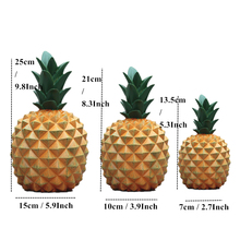 Home Docoration Accessories toy 11 Colors Ceramic Resin Pineapple Figurines Enamel Ornament Creative Fruit Crafts