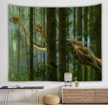 dorm room forest dragon tapestry wall hanging lama tenture murale indienne boho home decor large wall carpet(China)