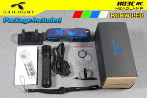 Image 5 - Skilhunt H03C RC Red/Green/Blue/White Multi colors LED Headlamp Flashlight