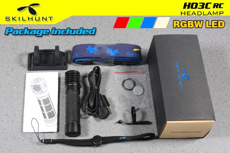 Skilhunt H03C RC/rojo/Verde/azul/blanco Multi-Colores LED linterna del faro - 5