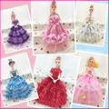 Toy Dolls With Fashion Princess Clothing Gown Wedding Dress For Doll Clothes Wears Dolls Toys For Girls Children Birthday Gift