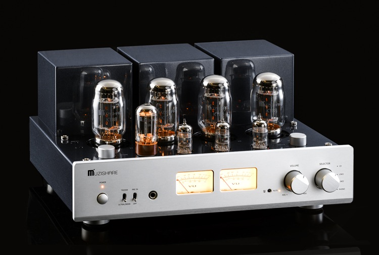 MUZISHARE New X7 KT88 Push-Pull tube amplifier HIFI EXQUIS GZ34 Lamp Amp Best Selling With Phono and Remote
