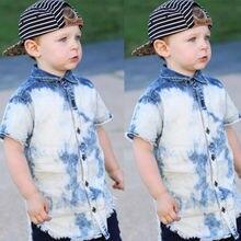 Cool Toddler Baby Boys Button Front Denim Shirt