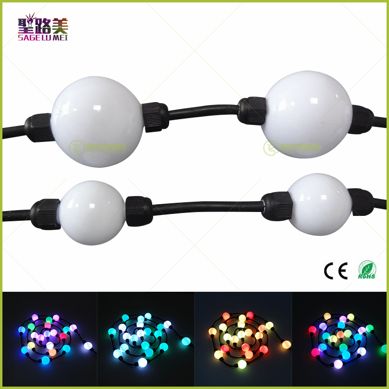 100pcs 35mm/50mm <font><b>24V</b></font> WS2811 string <font><b>module</b></font> lights milky ball 360 degree emitting addressable pixel full color christmas lighting image