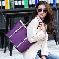Nylon Brand Fashion Purple Casual Totes Bag Women Large Capacity Ladies Handbag Hot Sell Handbag Ladies Casual Tote Bag Shoulder