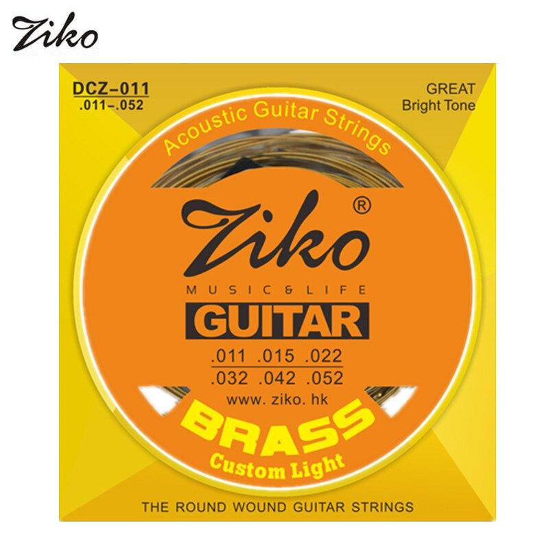 ziko acoustic guitar strings 010 011 012 silver phosphor bronze brass 6 strings guitar musical. Black Bedroom Furniture Sets. Home Design Ideas