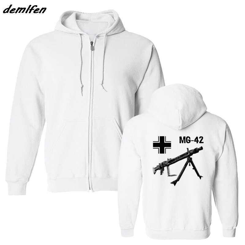 Men's Clothing Spring Autumn Men Fleece Hoodie Mg 42 Machine Gun Germany Wwii Sweatshirt Casual Male Hip Hop Jacket Coat Harajuku Streetwear Online Discount