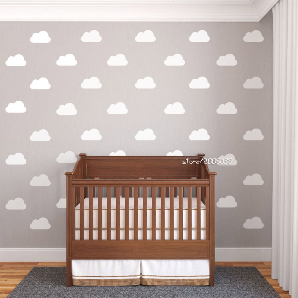 popular nursery furniture whitebuy cheap nursery furniture white  - pcsset white nursery cloud wall stickers vinyl wall decals customizedcolors available wallpaper artistic
