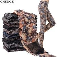 CHSDCSI 2017 Winter Women Print Thick Leggings Soft Hot Thickness Spandex Cotton Pants Legging Stretch Female
