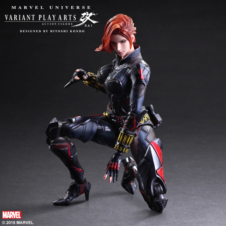 ФОТО Wholesale 20pcs Avengers 2 PA Black Widow Natasha Romanoff action pvc figure toy tall 27cm in box via EMS.