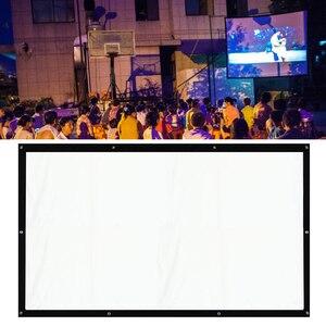 Портативный проектор 200-дюймовый 4:3, быстро складывающийся экран для кинотеатра, ткань для HD кинопроекторов