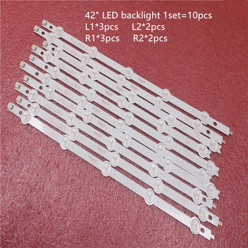 20 Pieces/lot New LED Backlight Bar For 42