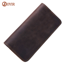 Joyir Men Real Leather Wallet Male Multi-card Bit Leather Wallet Men Brand Genuine Leather Wallet Long Purse Cow Men Wallet 2032