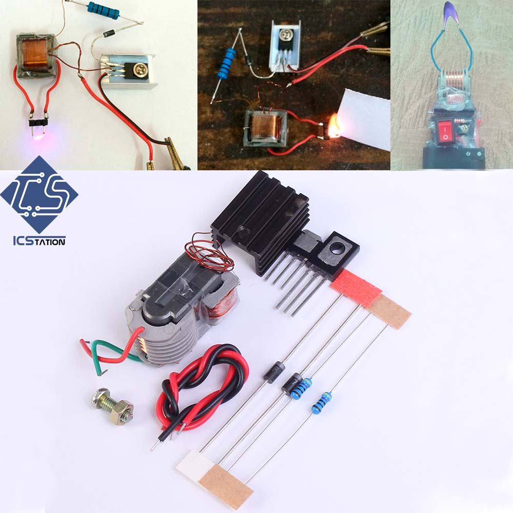 DIY Kit High Voltage Generator Step Up Boost Converter Inverter Arc Cigarette Igniter Lighter Coil Module 15KV 3.7V-4.2V maitech mc34063a battery step up boost module usb boost 5v liter 12v 24v green black