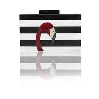2017 Women Messenger Bags Brand Fashion Wallet European High End Elegant Black And White Striped Acrylic