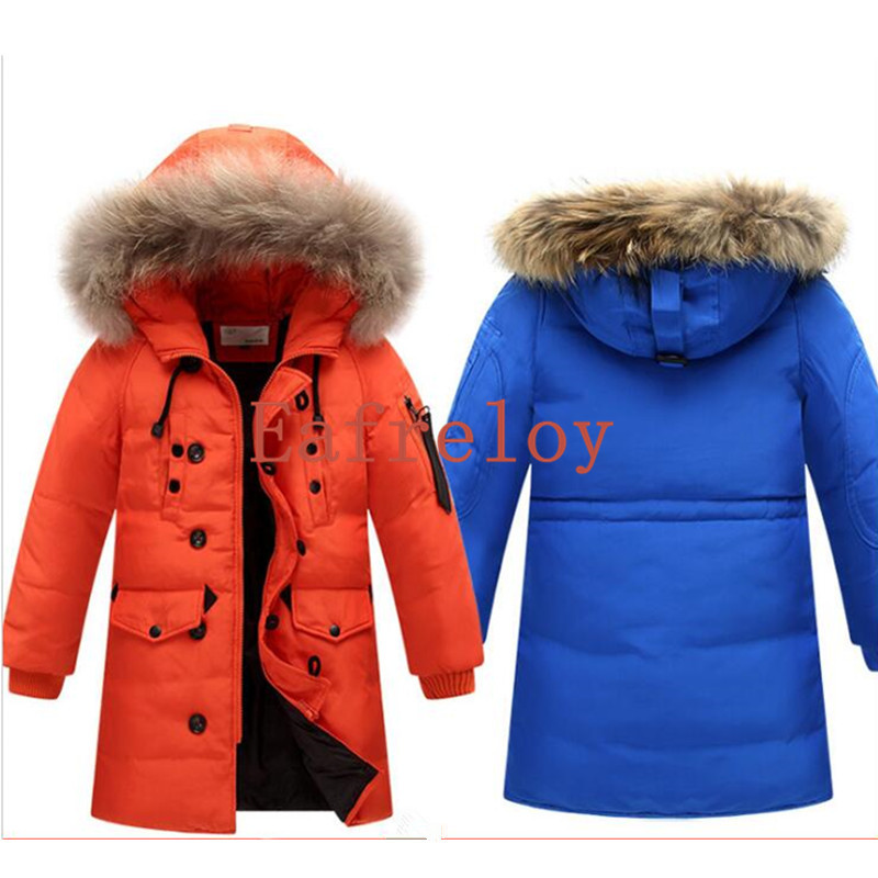 Factory Price Wholesale 100pcs/lot 6-16Years Boy's Long For Youth Children Cuhk More Down Jacket Boy Winter Fur Coat Boys Parka блузон fake ethics youth 8 16 лет