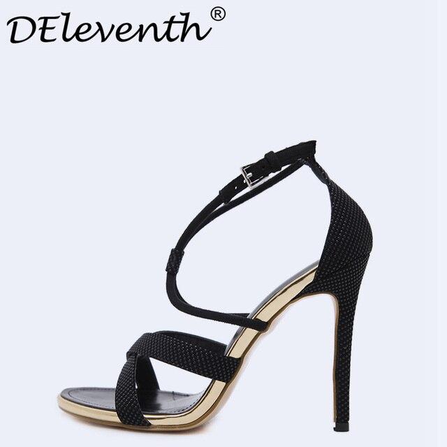 Сандалии для девочек Женские летние сандалии в гладиаторском стиле женская обувь пикантные туфли с открытым носком Для женщин с поперечным Ремешком черные босоножки женские открытые вечерние платье US35