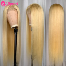Blond Full Lace Human Hair Wigs For Black Women Pre Plucked