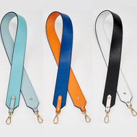 Bag Accessory Color Handles For Handbags Strap You Leather Handles For Bags Shoulder Strap Rivets bag Famous Brand Strap