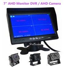 """"""" ips экран 1024*600 AHD автомобильный монитор 4 сплит-экран Мониторинг безопасности вождения рекордер DVR, или AHD Фронтальная/камера заднего вида"""