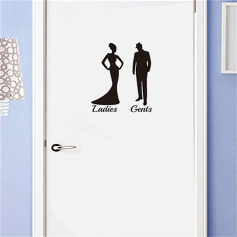 Ladies Gents Quotes Toilet Sign Door Sticker Fashion ...