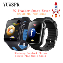 Children Tracker 3G Smart Watches Wifi GPS LBS Location SD Memory Card WhatsApp Facebook Play Music Tracking Child Clock V5W/V7W