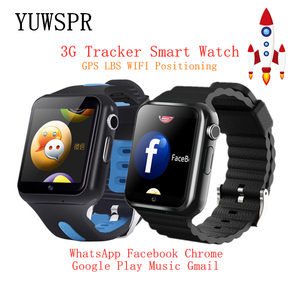 Image 1 - Children Tracker 3G Smart Watches Wifi GPS LBS Location SD Memory Card WhatsApp Facebook Play Music Tracking Child Clock V5W/V7W
