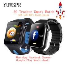 Enfants Tracker 3G montres intelligentes Wifi GPS LBS Location carte mémoire SD WhatsApp Facebook jouer musique suivi enfant horloge V5W/V7W