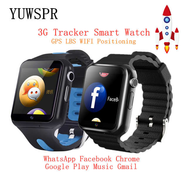Relojes inteligentes 3G para niños, con Wifi, GPS, LBS, tarjeta de memoria SD, WhatsApp, Facebook, reproducción de música, seguimiento, reloj infantil V5W/V7W