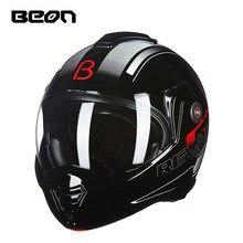 Nieuwe Beon Mannen Moto Rcycle Flip Up Helmen Moto Rbike 3/4 Half Retro Winter Moto Persoonlijkheid Locomotief Helmen Femal helm