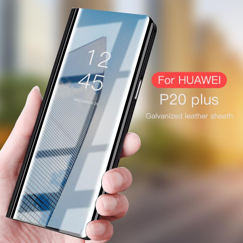 buy online 15dcc 1330f Clear Smart Leather Flip Stand Mirror Case For Huawei Honor 10 Nova2i Mate  10 Lite Plus Smart P20 9 10 7S Lite Clear View Window