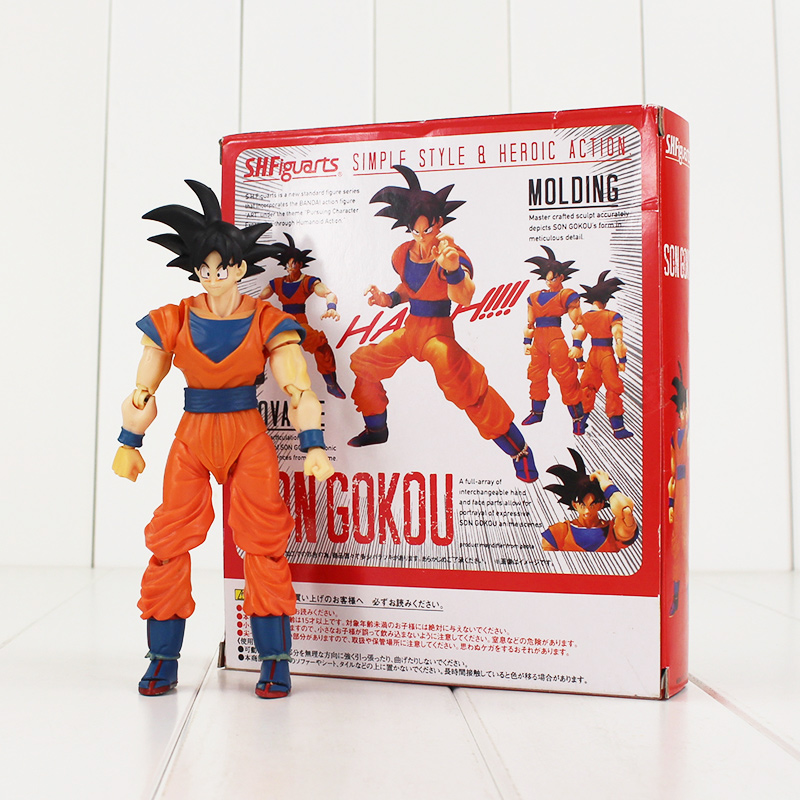 16cm Japanese Anime Dragon ball Z Super Saiyan Son Goku Black Hair PVC Action Model figure Kids Toys anime dragon ball z super saiyan son goku 22cm pvc action figure anime model toys