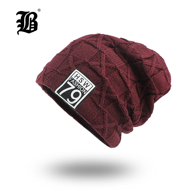 [FLB] Winter   Beanies   Men Scarf Knitted Hat Caps Mask Gorras Bonnet Warm Baggy Winter Hats For Men Women   Skullies     Beanies   F18001