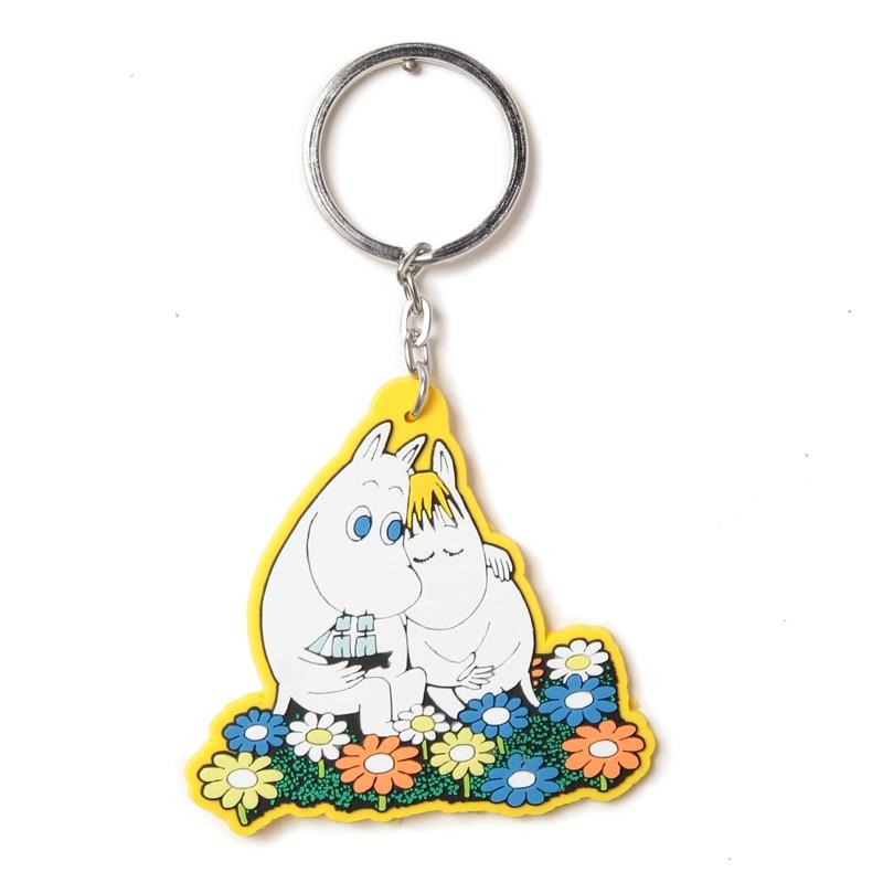 Moomin Mummi Keychain 2019 New Arrival Fashion Unisex Hippo Character Plush Keychain  Romantic Yellow Resin Key Ring