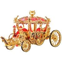 Princess Carriage Model 3D Stereo Metal Mosaic Handmade Diy Toy Romantic Expressive Gift