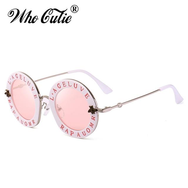 QUE GRACINHA 2018 Redonda Pequena Óculos De Sol Das Mulheres Da Moda Retro  Lente Espelho Rosa a9c690532a