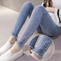 2016 winter maternity pregnancy jeans maternity jean pants for pregnant women elastic waist adjustable jean pregnant pregnancy