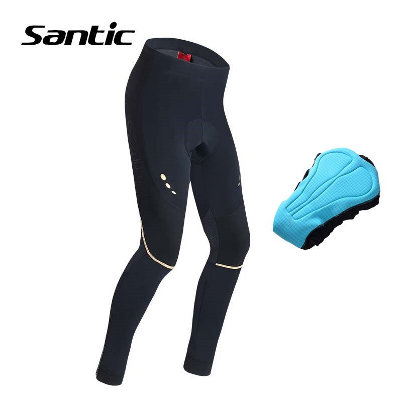 Santic Anti-pilling Cycling Long Padded Pants 2018 Pro Team Racing Bicycle Pants For Long Distance 7 Hour Pad Bike Pants