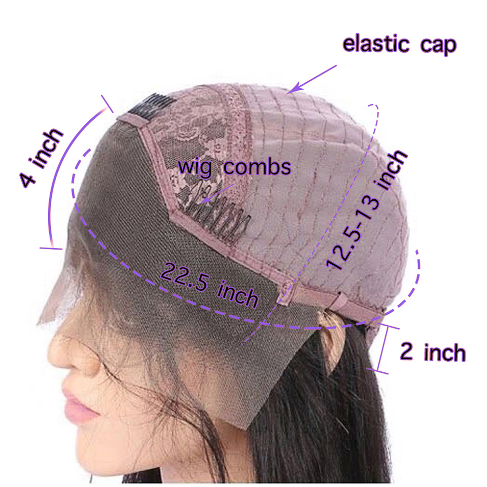 COLODO Lavender Purple 13x4 Loose Wave Wig 14inch Blue Bob Lace Front Wigs Pre Plucked 613 Lace Front Human Hair Wigs for Women-in Human Hair Lace Wigs from Hair Extensions & Wigs    2