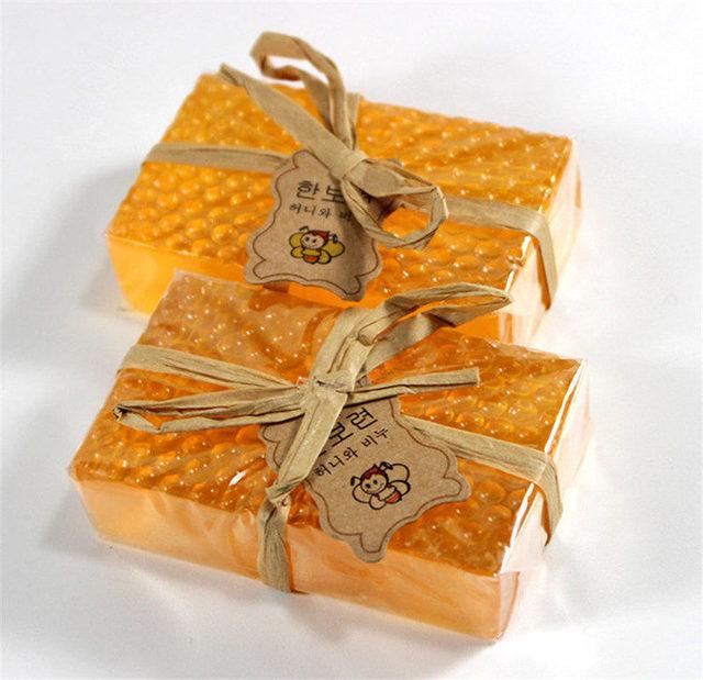 100g Honey Kojic Acid Soap Handmade Whitening Soap Peeling Glutathione Arbutin Bath Body Deep Cleaning Soap Skin Care Bath Tool 4