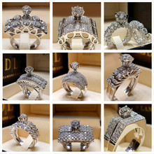 Good Quality Cubic Zirconia Pretty Ring for Women Trending Bridal Set Wedding Engagement Promise Rings Fashion Jewelry Rings цена и фото