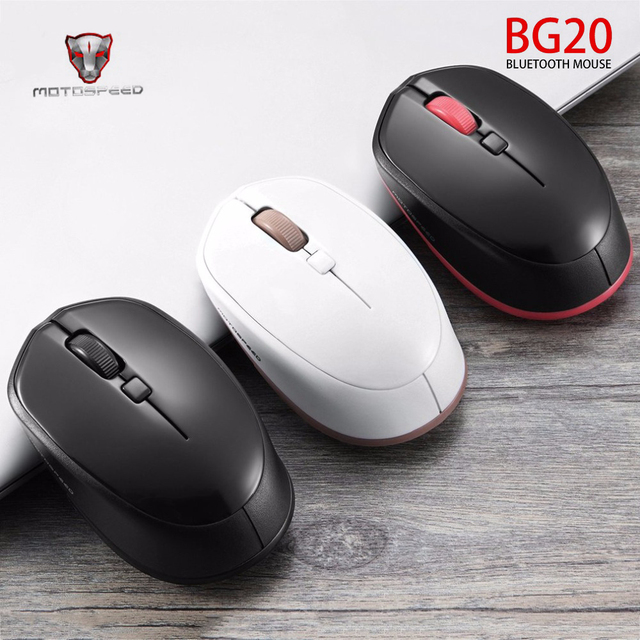 bd1ac14966e Motospeed BG20 2.4GHz Wireless Gaming Mouse 2400DPI Bluetooth 3.0 Optical  Mini Mice For Tablet PC