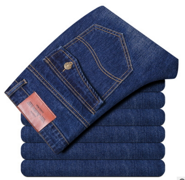 Four Seasons Can Wear Jussara MEN'S Fashion Brand Slim Straight Jeans Waist Young People Straight Slacks Quality Men JEANS 6699