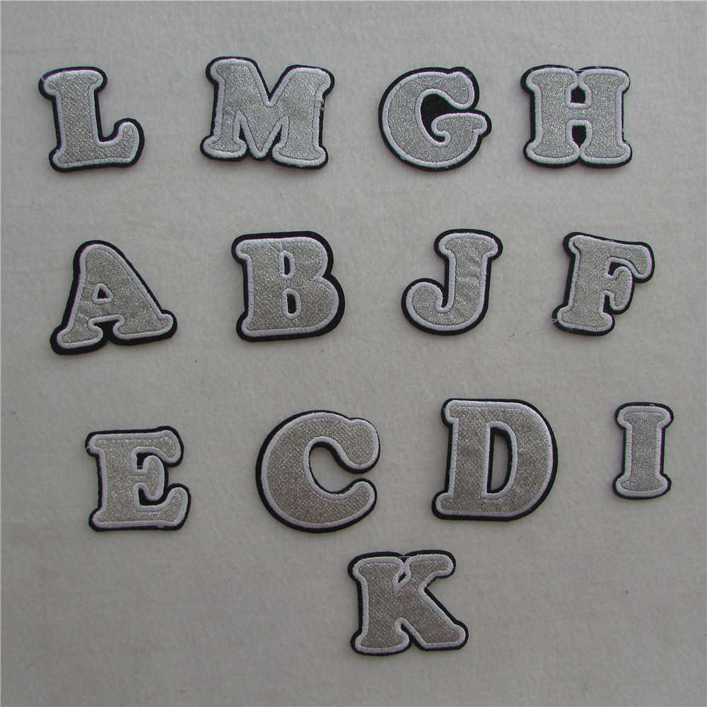 Selling English letters patches hot melt adhesive applique embroidery patches stripes DIY clothing accessory patch 1pcs sell