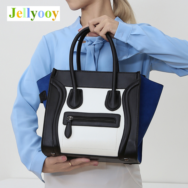 Hot Sale Best Quality Luxury Famous Women Shoulder Bags Leather Smiley Tote Bag Messenger Bags Crossbody Smiling Face Sac A Main smiley trapeze tote bags luxury brand leather handbags smiling face famous designer shoulder bags crossbody bags for women