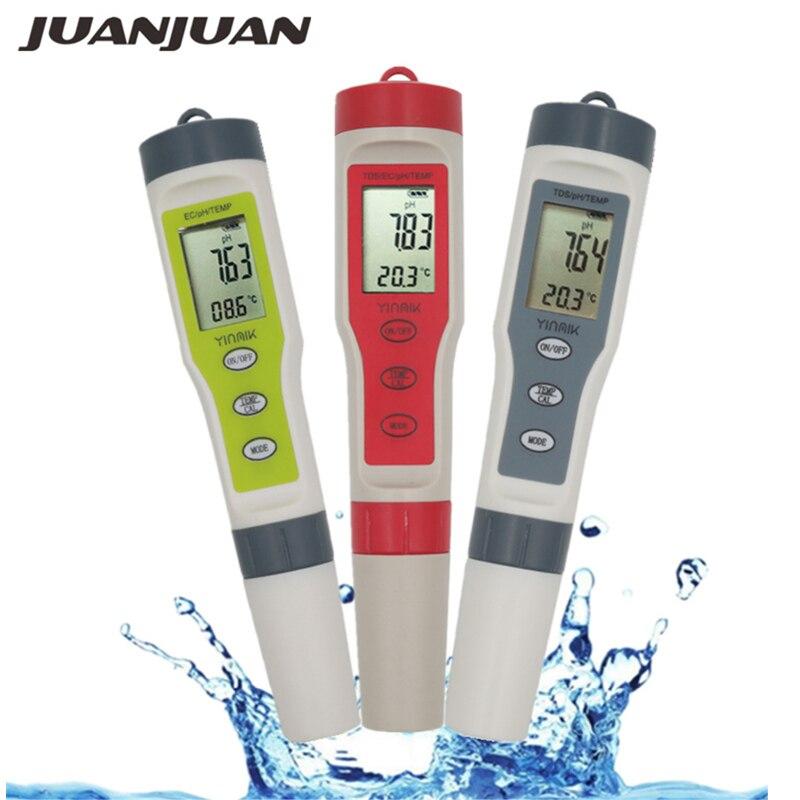 Profesional TDS medidor de PH/TDS/CE/medidor de temperatura Digital de agua Monitor de calidad probador para piscinas agua Potable de acuarios