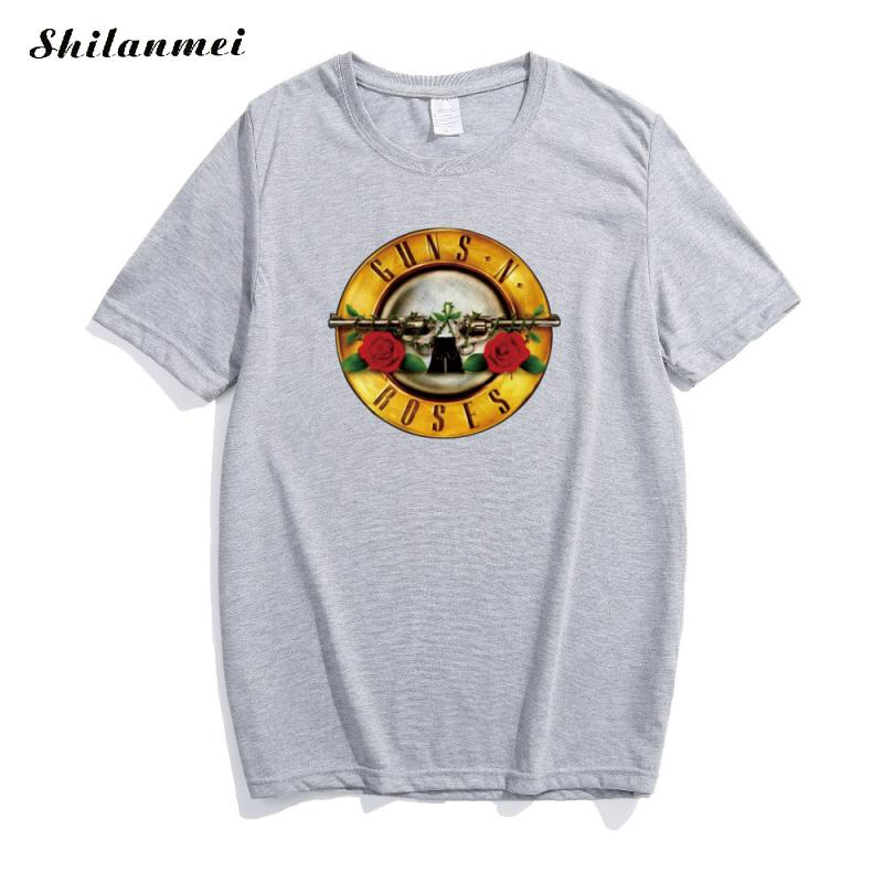 finding Store fashion street t shirt women tops summer 2017 cotton short sleeve guns n roses printed punk tee shirt femme funny camiseta mujer
