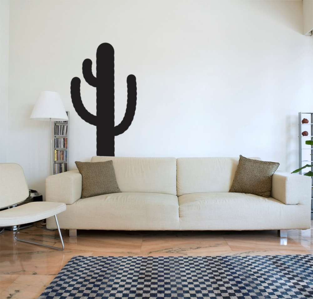 Home Decal Cactus Silhouette Wall Stickers For Living Room
