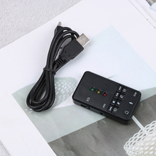External EQ Xear USB Sound Card 7.1 Channel 3D Audio Adapter For PC Laptop High Quality External